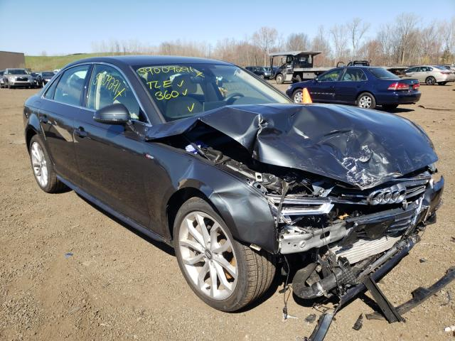 Salvage cars for sale from Copart New Britain, CT: 2019 Audi A4 Premium