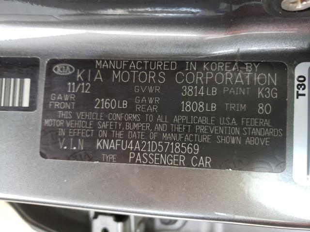 2013 KIA FORTE EX KNAFU4A21D5718569