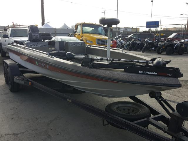 Salvage cars for sale from Copart Los Angeles, CA: 1986 Champion Boat With Trailer