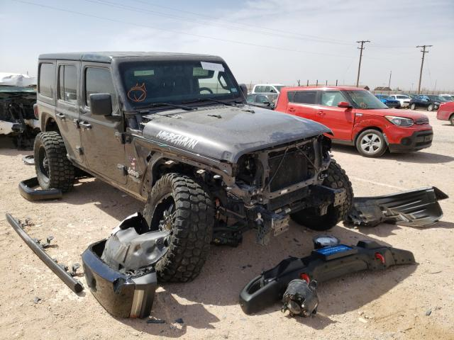 Salvage cars for sale from Copart Andrews, TX: 2020 Jeep Wrangler U