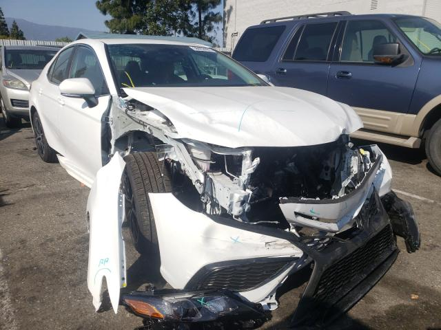Salvage cars for sale from Copart Rancho Cucamonga, CA: 2021 Toyota Camry SE N