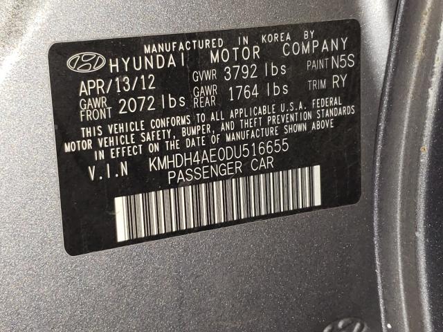 2013 HYUNDAI ELANTRA GL KMHDH4AE0DU516655