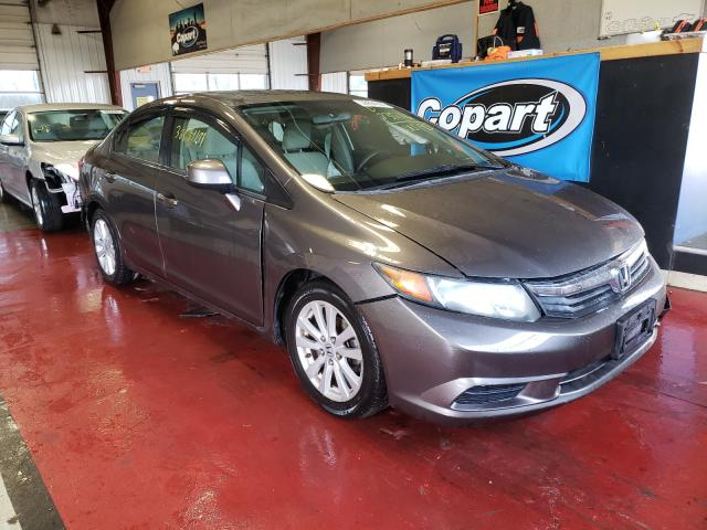 Salvage cars for sale from Copart Angola, NY: 2012 Honda Civic EX
