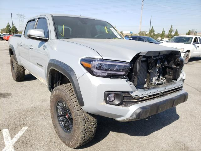 Salvage cars for sale from Copart Rancho Cucamonga, CA: 2021 Toyota Tacoma DOU