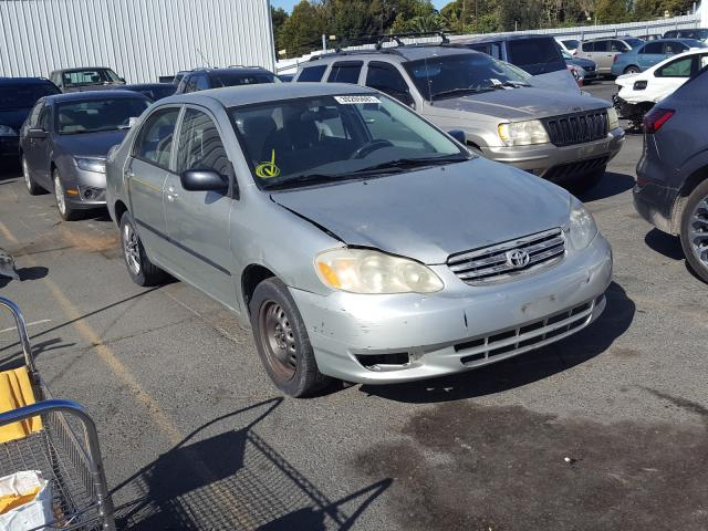 Salvage cars for sale from Copart Vallejo, CA: 2003 Toyota Corolla CE
