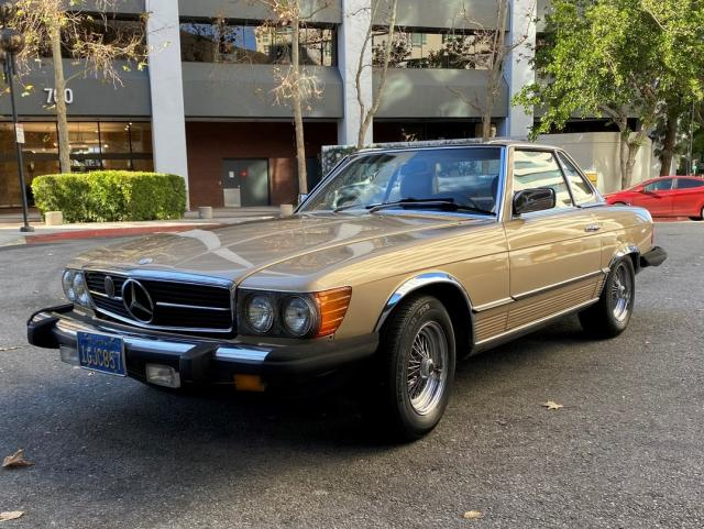 Mercedes-Benz 380 SL salvage cars for sale: 1983 Mercedes-Benz 380 SL