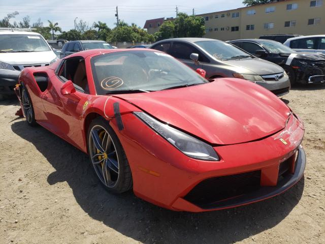 Ferrari 488 Spider salvage cars for sale: 2018 Ferrari 488 Spider