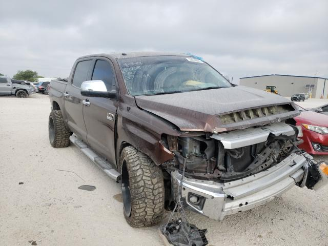 Salvage cars for sale from Copart San Antonio, TX: 2014 Toyota Tundra CRE