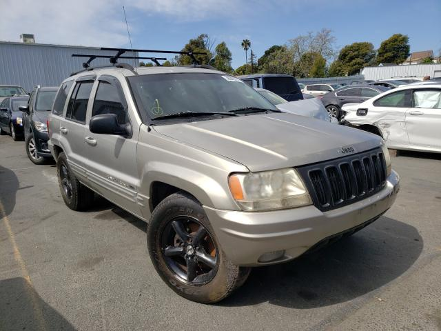 Jeep salvage cars for sale: 2002 Jeep Grand Cherokee