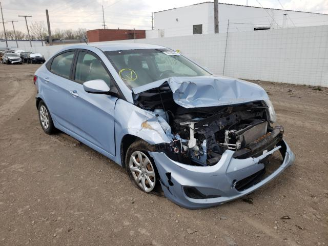 Salvage cars for sale from Copart Hammond, IN: 2013 Hyundai Accent GLS