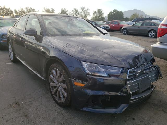 Salvage cars for sale from Copart Colton, CA: 2018 Audi A4 Premium