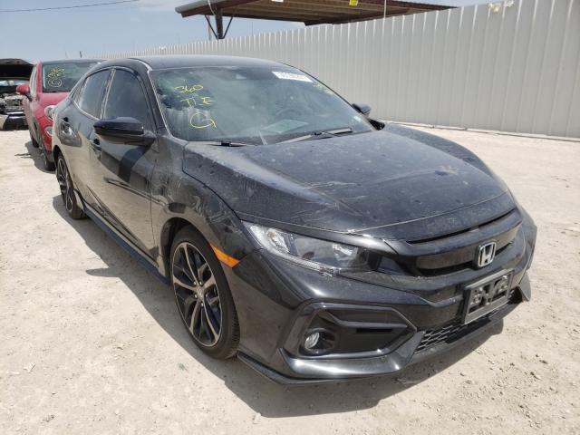 Salvage cars for sale from Copart Temple, TX: 2021 Honda Civic Sport