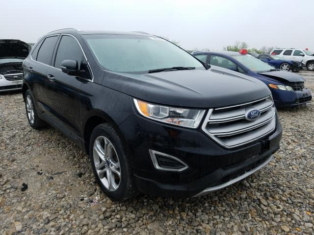 Salvage cars for sale from Copart Kansas City, KS: 2017 Ford Edge Titanium