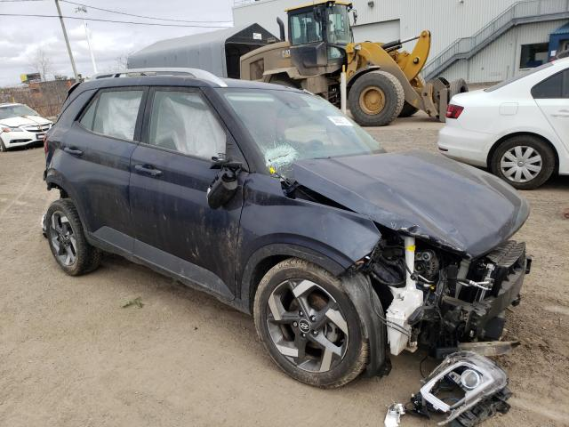Salvage cars for sale from Copart Montreal Est, QC: 2020 Hyundai Venue SEL
