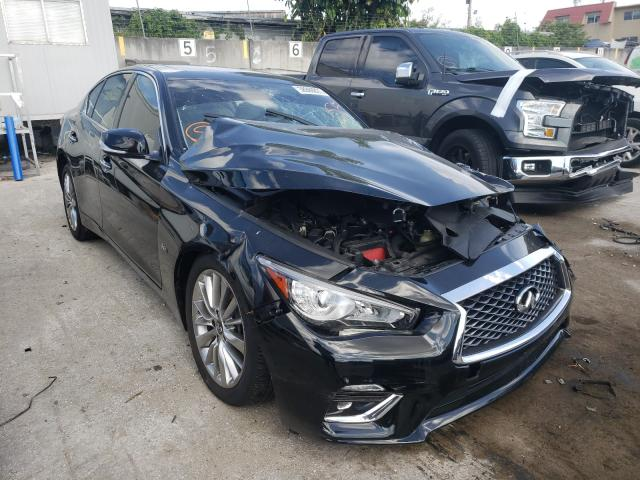 Salvage cars for sale from Copart Opa Locka, FL: 2018 Infiniti Q50 Luxe