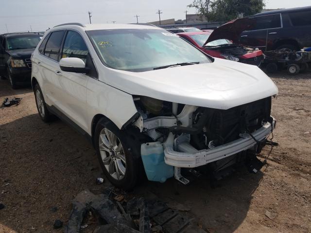 Vehiculos salvage en venta de Copart Mercedes, TX: 2020 Ford Edge Titanium