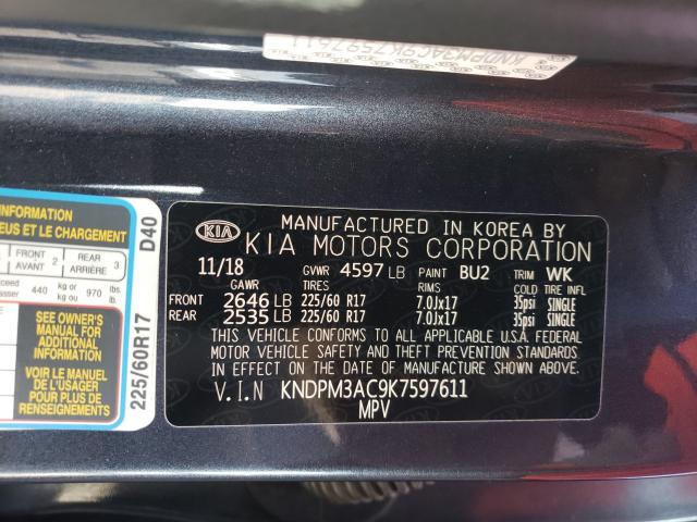 2019 KIA SPORTAGE L KNDPM3AC9K7597611