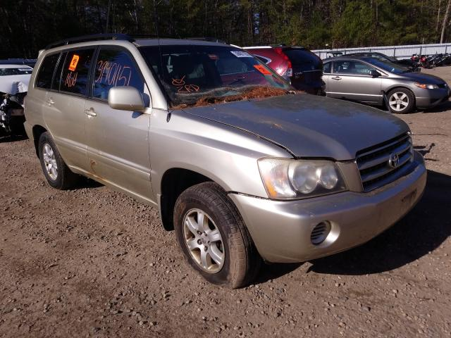 Salvage cars for sale from Copart Lyman, ME: 2003 Toyota Highlander