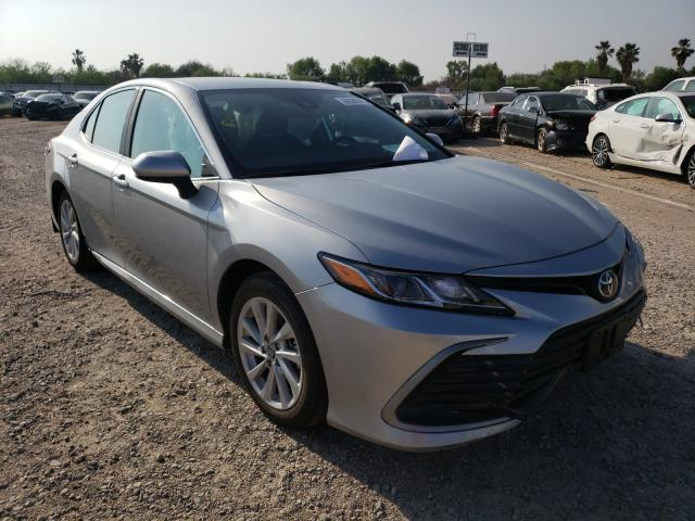 Salvage cars for sale from Copart Mercedes, TX: 2021 Toyota Camry LE