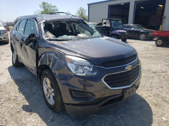 Salvage cars for sale from Copart Sikeston, MO: 2016 Chevrolet Equinox LS