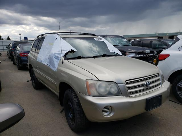 Salvage cars for sale from Copart Angola, NY: 2003 Toyota Highlander