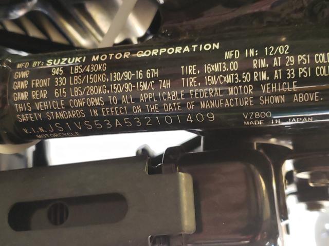 2003 SUZUKI VZ800 JS1VS53A532101409