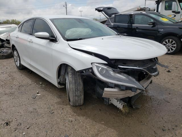 Salvage cars for sale at Indianapolis, IN auction: 2015 Chrysler 200 Limited