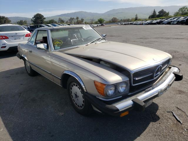 Mercedes-Benz 560 SL salvage cars for sale: 1986 Mercedes-Benz 560 SL