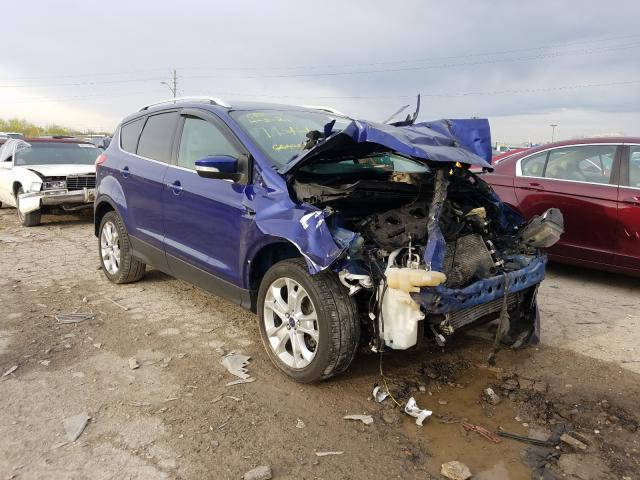 Salvage cars for sale at Indianapolis, IN auction: 2014 Ford Escape Titanium