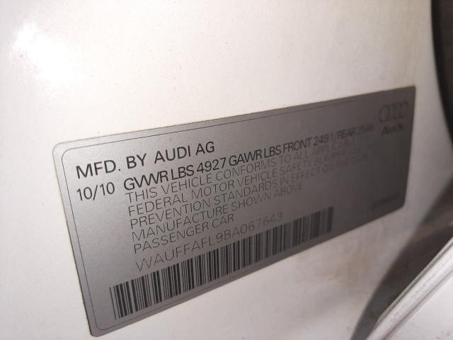 2011 AUDI A4 PREMIUM WAUFFAFL9BA067643