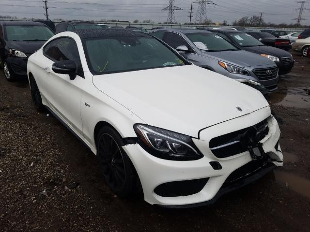 Salvage cars for sale from Copart Elgin, IL: 2018 Mercedes-Benz C 43 4matic