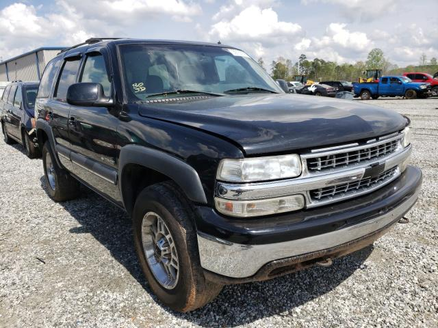Salvage cars for sale from Copart Spartanburg, SC: 2002 Chevrolet Tahoe K150