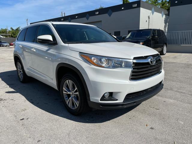 Salvage cars for sale from Copart Opa Locka, FL: 2016 Toyota Highlander