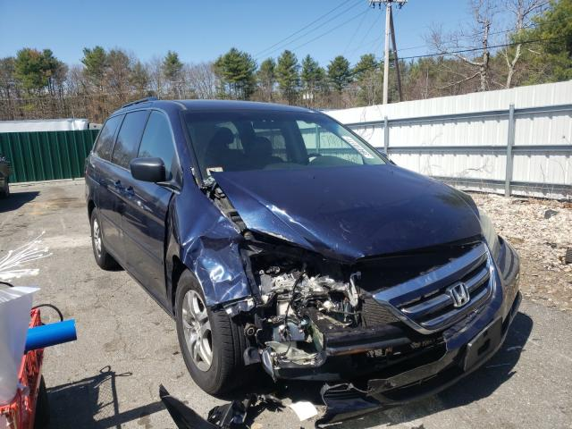 Salvage cars for sale from Copart Exeter, RI: 2006 Honda Odyssey EX