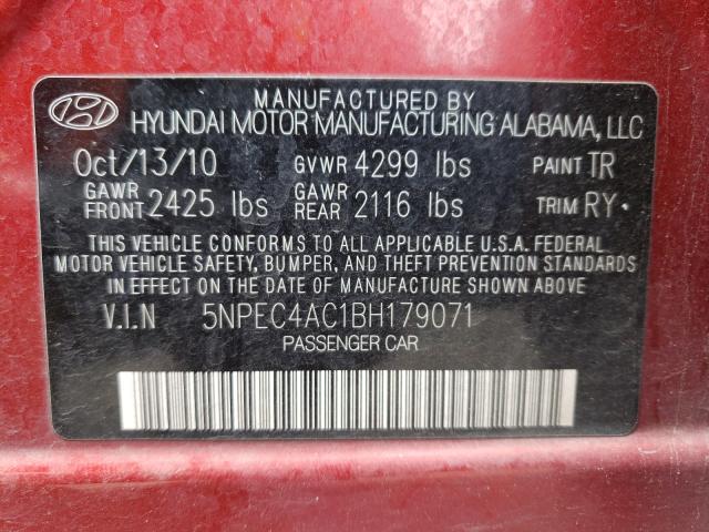 2011 HYUNDAI SONATA SE 5NPEC4AC1BH179071