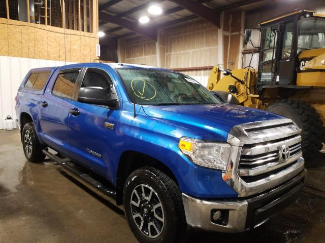 Salvage cars for sale from Copart Anchorage, AK: 2017 Toyota Tundra CRE