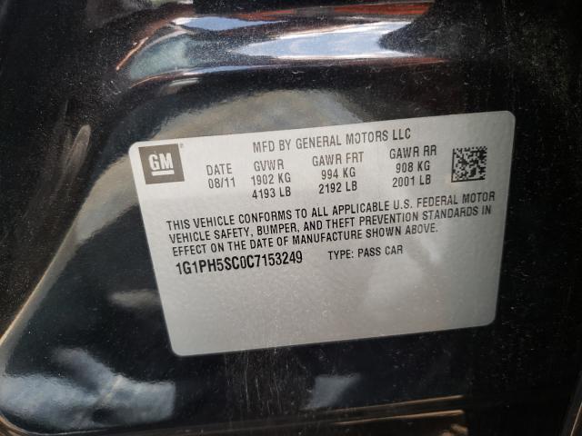 2012 CHEVROLET CRUZE LTZ 1G1PH5SC0C7153249