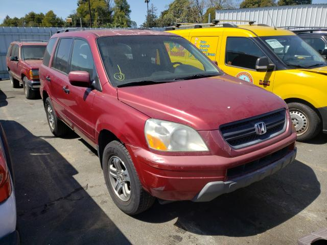 Salvage cars for sale from Copart Vallejo, CA: 2003 Honda Pilot EXL