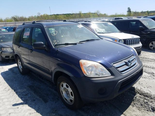 Salvage cars for sale from Copart Spartanburg, SC: 2006 Honda CR-V LX