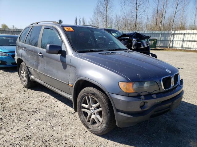 Salvage cars for sale from Copart Arlington, WA: 2002 BMW X5 3.0I