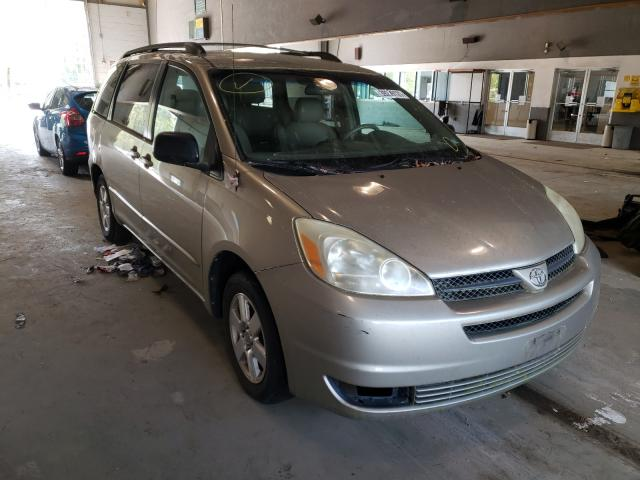 Salvage cars for sale from Copart Sandston, VA: 2005 Toyota Sienna CE