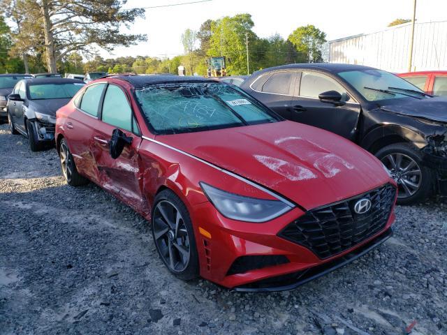 Salvage cars for sale from Copart Loganville, GA: 2021 Hyundai Sonata SEL
