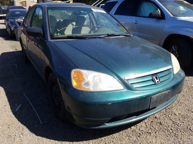 Salvage cars for sale from Copart Graham, WA: 2001 Honda Civic LX