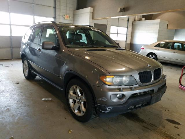 Salvage cars for sale from Copart Sandston, VA: 2003 BMW X5 3.0I