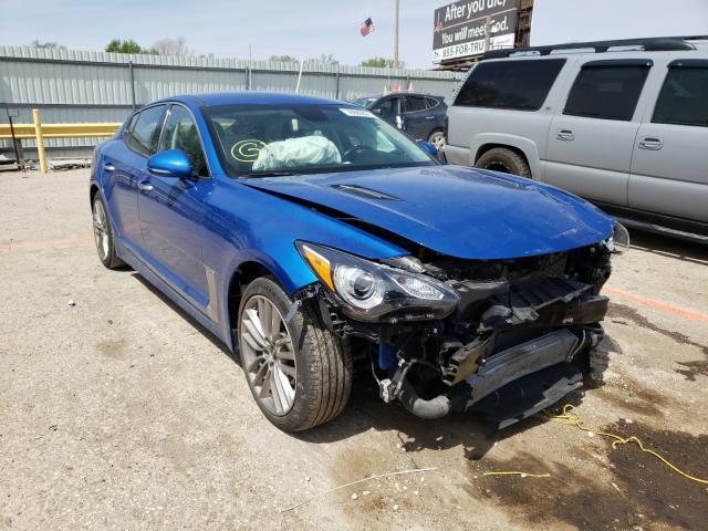 Salvage cars for sale from Copart Wichita, KS: 2018 KIA Stinger