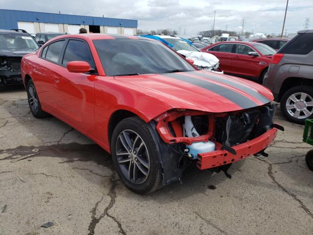 Salvage cars for sale from Copart Woodhaven, MI: 2019 Dodge Charger SX