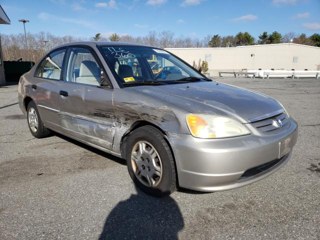 Salvage cars for sale from Copart Exeter, RI: 2001 Honda Civic LX