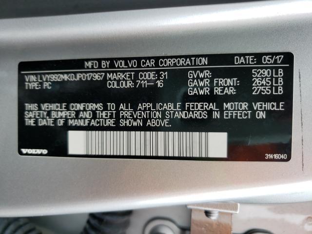 2018 VOLVO S90 T6 MOM LVY992MK0JP017967