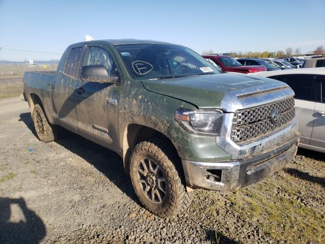 Salvage cars for sale from Copart Eugene, OR: 2021 Toyota Tundra DOU