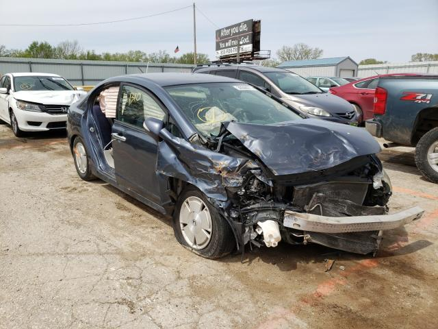 Salvage cars for sale from Copart Wichita, KS: 2008 Honda Civic Hybrid